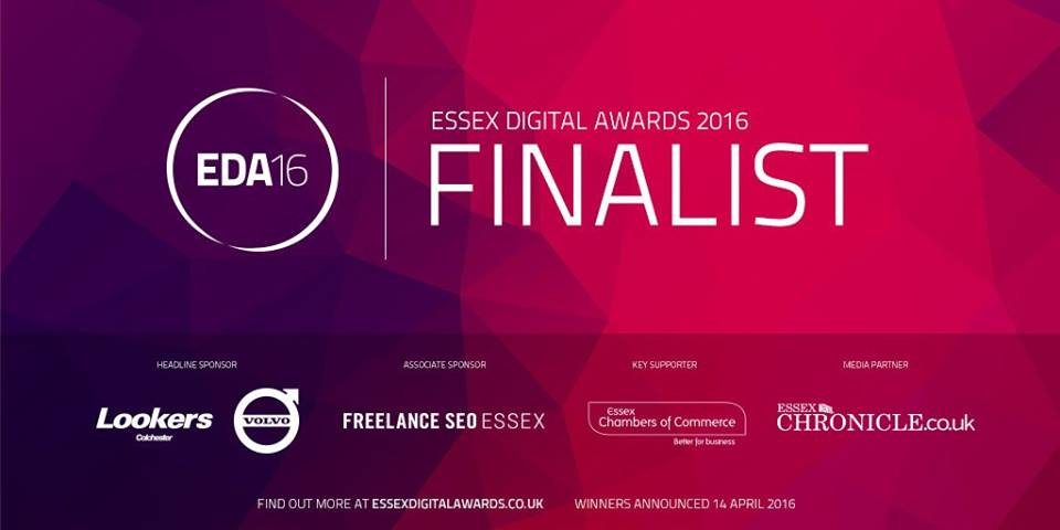 We're a finalist at The Essex Digital Awards 2016!