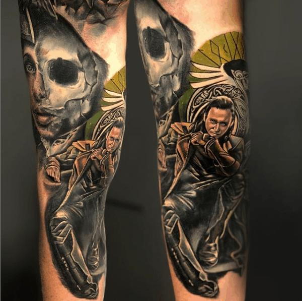 Realism Loki Tattoo