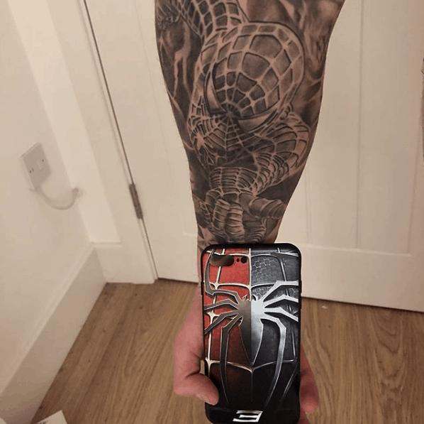 spiderman tattoo sleeve
